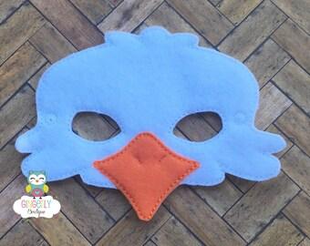 Eagle Mask, Kids Dress Up Mask, Eagle Costume Mask, Wool Blend Mask, Felt Eagle Mask, Jungle Party Favor, Monkey Mask