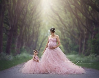 Mother and Daughter Tule Set/ Matching Set/ Mother and Daughter Photography/ Tule Set