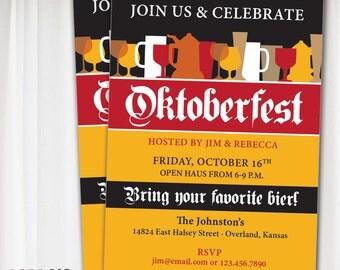 Oktoberfest PRINTABLE Invitation