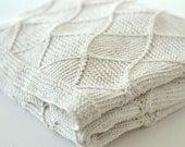 NEW Baby blanket KNITTING PATTERNS  - 'Diamond' blanket