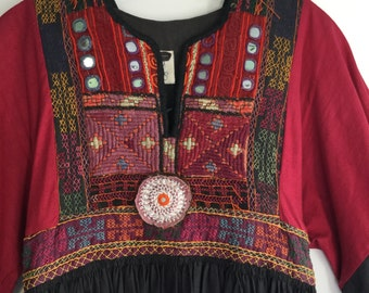 Beautiful vintage hippie dress 1960's boho festival size small