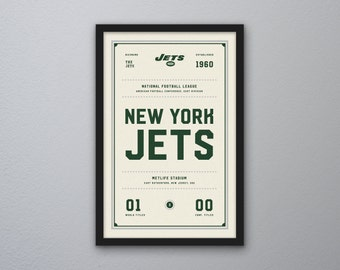 "New York Jets ""Day & Night"" Print"