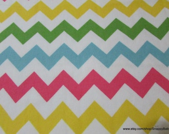 Flannel Fabric - Medium Chevron Girl - 1 yard - 100% Cotton Flannel