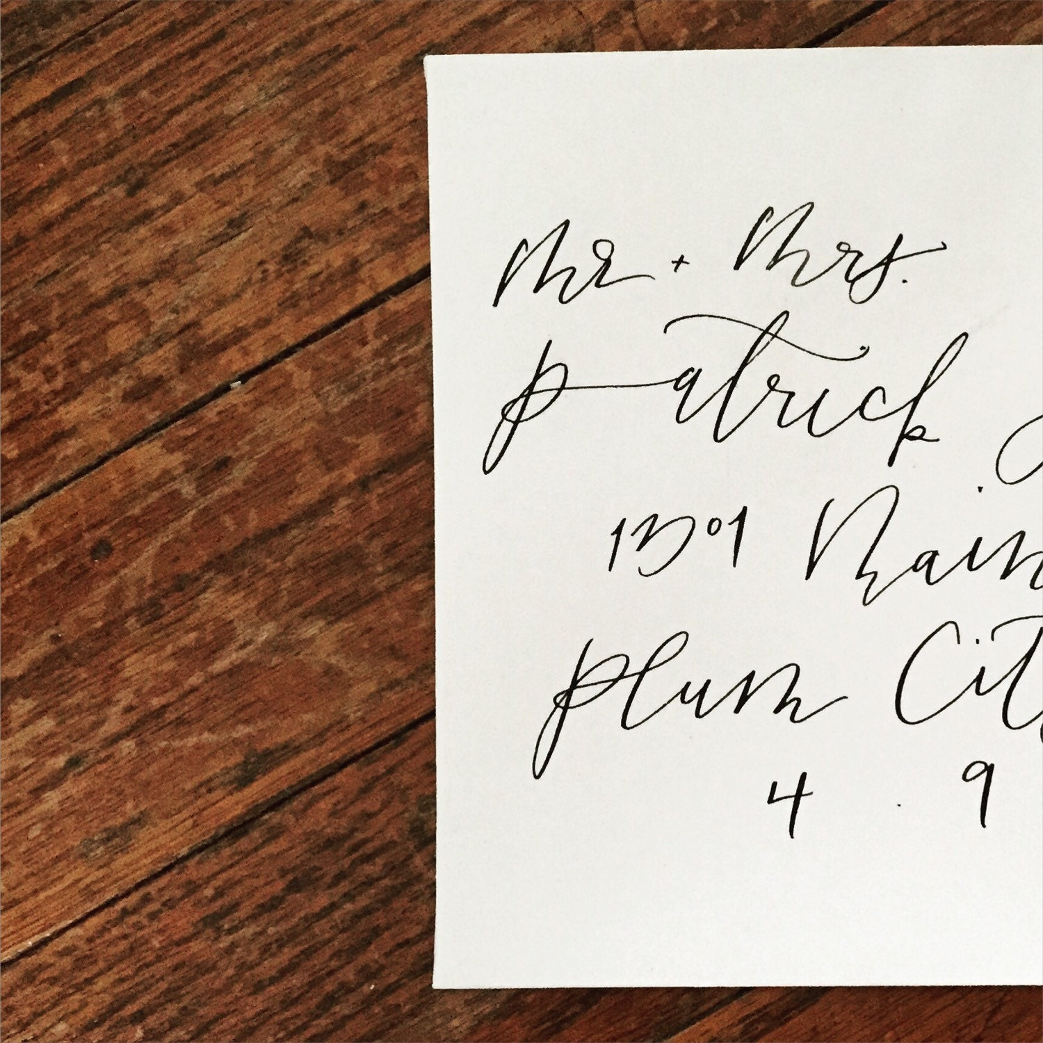 Calligraphy Handwritten Wedding Envelopes Hand By Willowwynnco