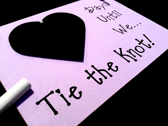 The Knot Wedding Gifts: Engagement Gift Idea. Wedding Countdown Days Until..We