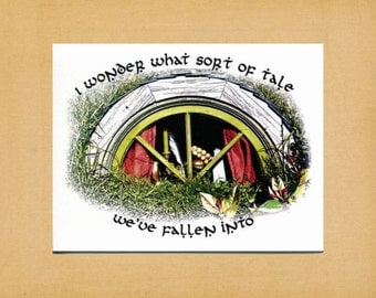 Note Card, Hobbit, LOTR, Tolkien, Lord of the Rings, Greeting Card, Blank Inside