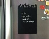 Black Cat Chalkboard Vinyl Decal, Refrigerator Chalkboard Decal, Cat Chalkboard Decal