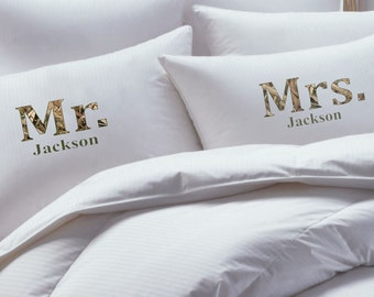 His and Her Pillowcase set,Mossy Oak Inspited pillow case set, couples pillowcases