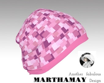 Sixties Pink Cloche Turban Hat