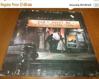 Save 30% Today Vintage 1973 LP Record Elton John Don't Shoot Me I'm Only The Piano Player Very Good Condition 3503