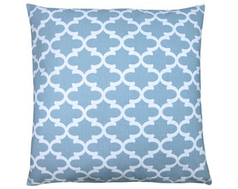 Pillow case FULTON grid Oriental blue white 40 x 40 cm