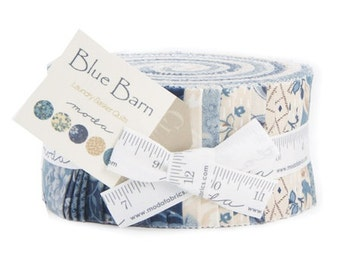 Blue Barn Prints by Moda Jelly Roll