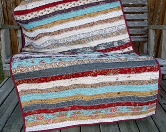 how to make a jelly roll rag quilt