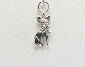 Sterling Silver Chihuahua Charm by Donna Pizarro from her Animal Whimsey Collection of Dog Jewelry and Chihuahua Jewelry