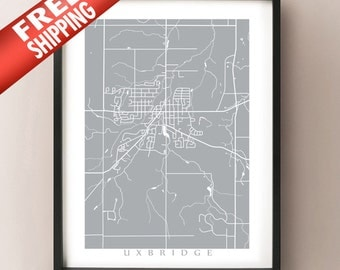 Uxbridge Map Print