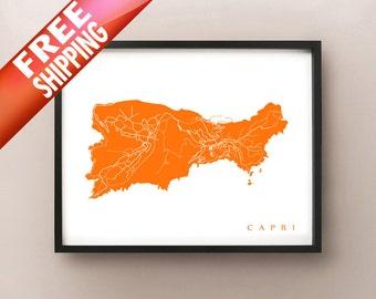 Capri Map Print