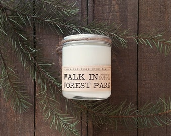 Wood Wick Candle - A Walk in Forest Park - Vegan Soy Wax 8 oz