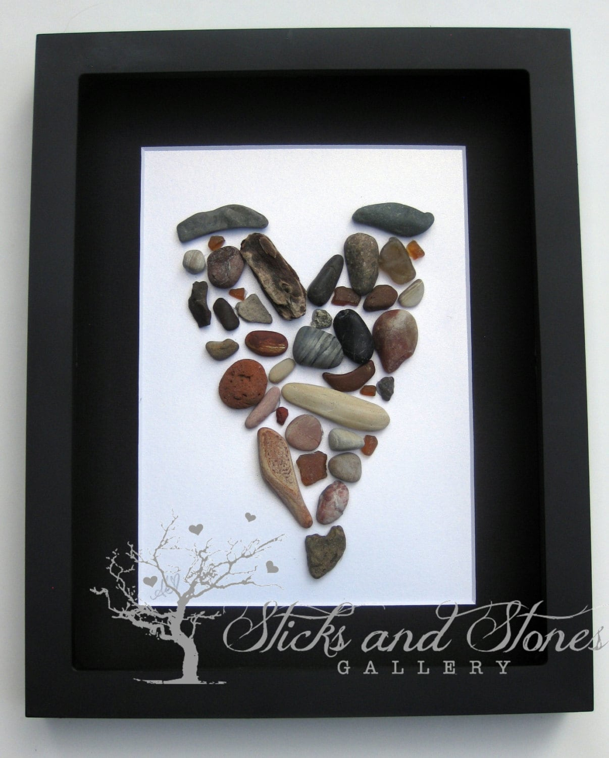 Pebble Art Gift Engagement Gift Wedding Gift Coastal Home