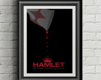 Hamlet by William Shakespeare Minimalist Poster