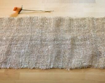 Hemp Table Runner; Decorative Tablecloth In Hemp; Vegan Runner