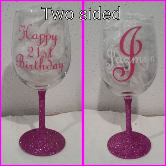 Happy Birthday Personalized Wine Glass Birthday Gift
