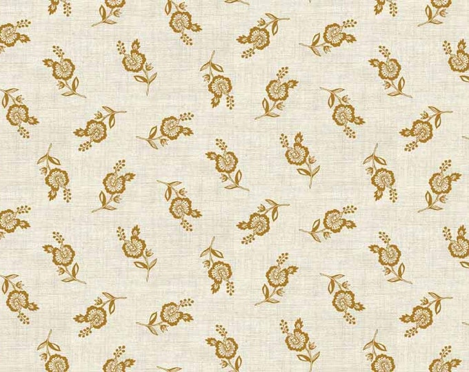 Greys Court Scattered Flowers Gold - 1/2yd
