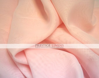 "Voile Fabric by the yard 118"" Wide - Sheer Voile Drape Drapery Fabric Chiffon Fabric - Blush"
