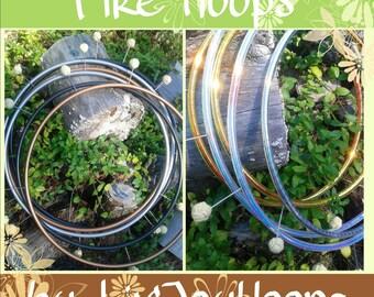 """Fire Hoop--Budget Custom built--Fixed SMALL """"Pixie"""" Monkey fist wicks--Natural Polypro 3/4""""--PLAIN fire hoop"""