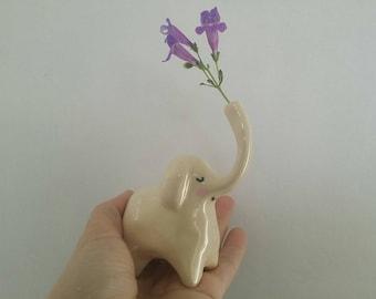Elephant flower holder