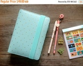 CLEARANCE A6 Mint & Gold Polka Dot Planner - Personal Size VALUE SET