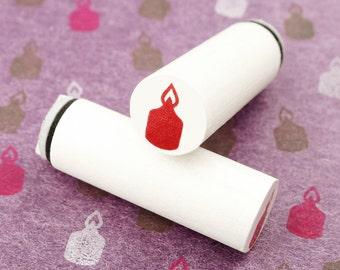 Pillar candle (dark) - mini stamps/Lüttje stamp Ø 1,1 cm
