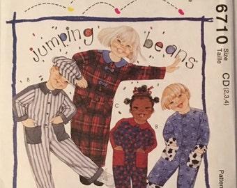McCalls Pattern 6710 Childrens Jumpsuits Size 2-3-4