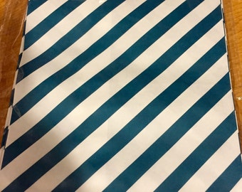 25 Navy Blue stripes favor bags / Treat Bags / Wedding Favor Bags / Birthdays / Party Favor Bags / stripes Paper Treat Bags / Bakery Bags