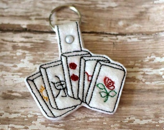 Mahjong Tiles - Key Fob In The Hoop - DIGITAL Embroidery DESIGN