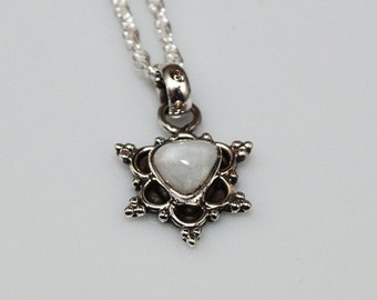 Moonstone pendant  - Silver Necklace