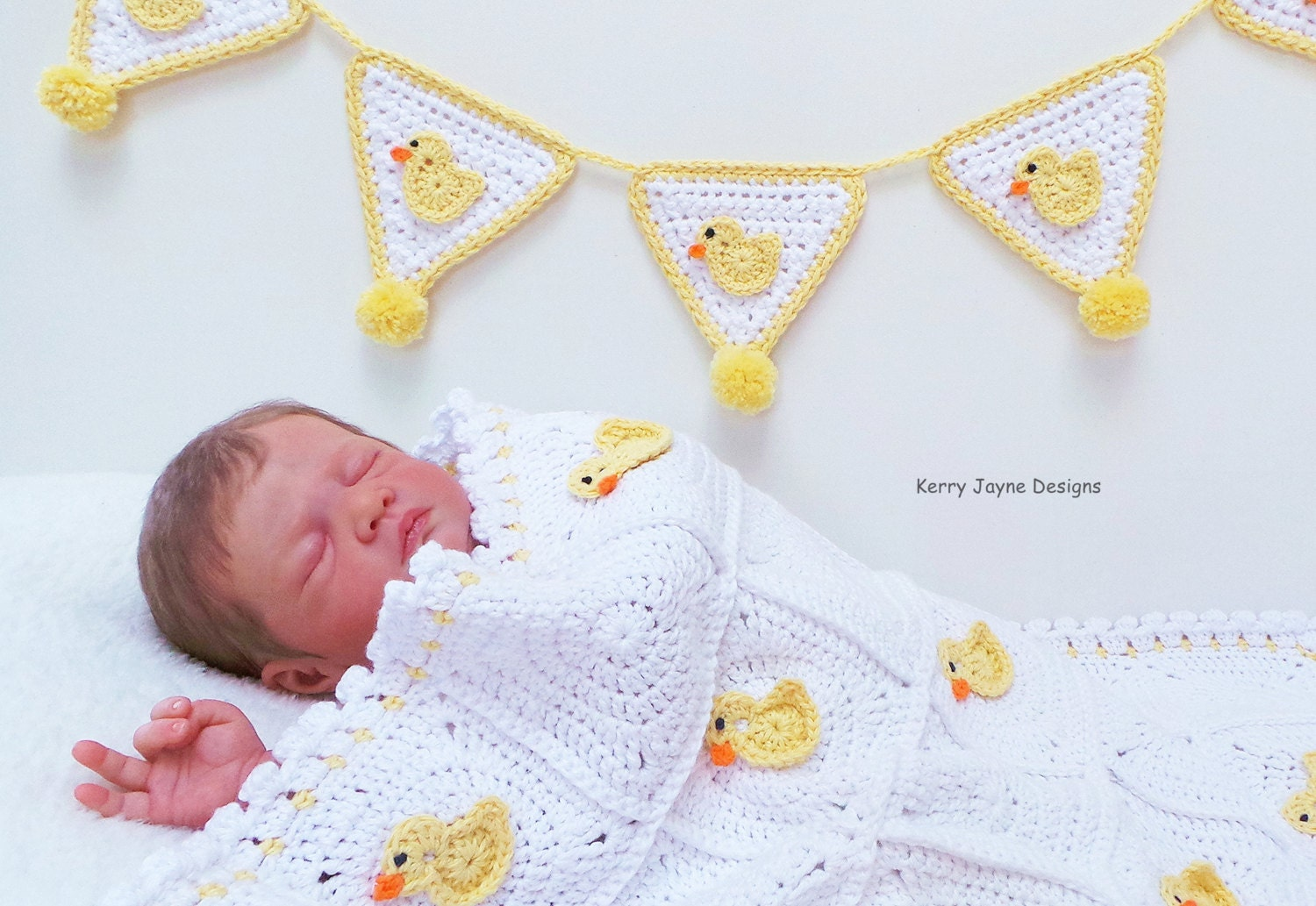 Crochet Pattern Baby Blanket Duck : CROCHET PATTERN Little Duck Blanket Baby Blanket Pattern