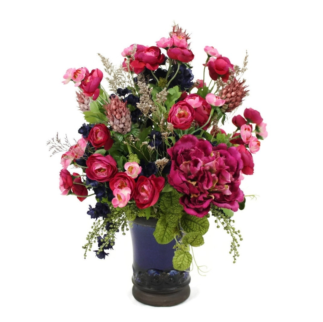 Silk Floral Arrangement Home D Cor Faux Silk Flowers