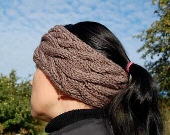 Hand knit headband, Knitted Ear warmer, Hand knit hair accessory, knitted turban, knitted headband, hand knit turban