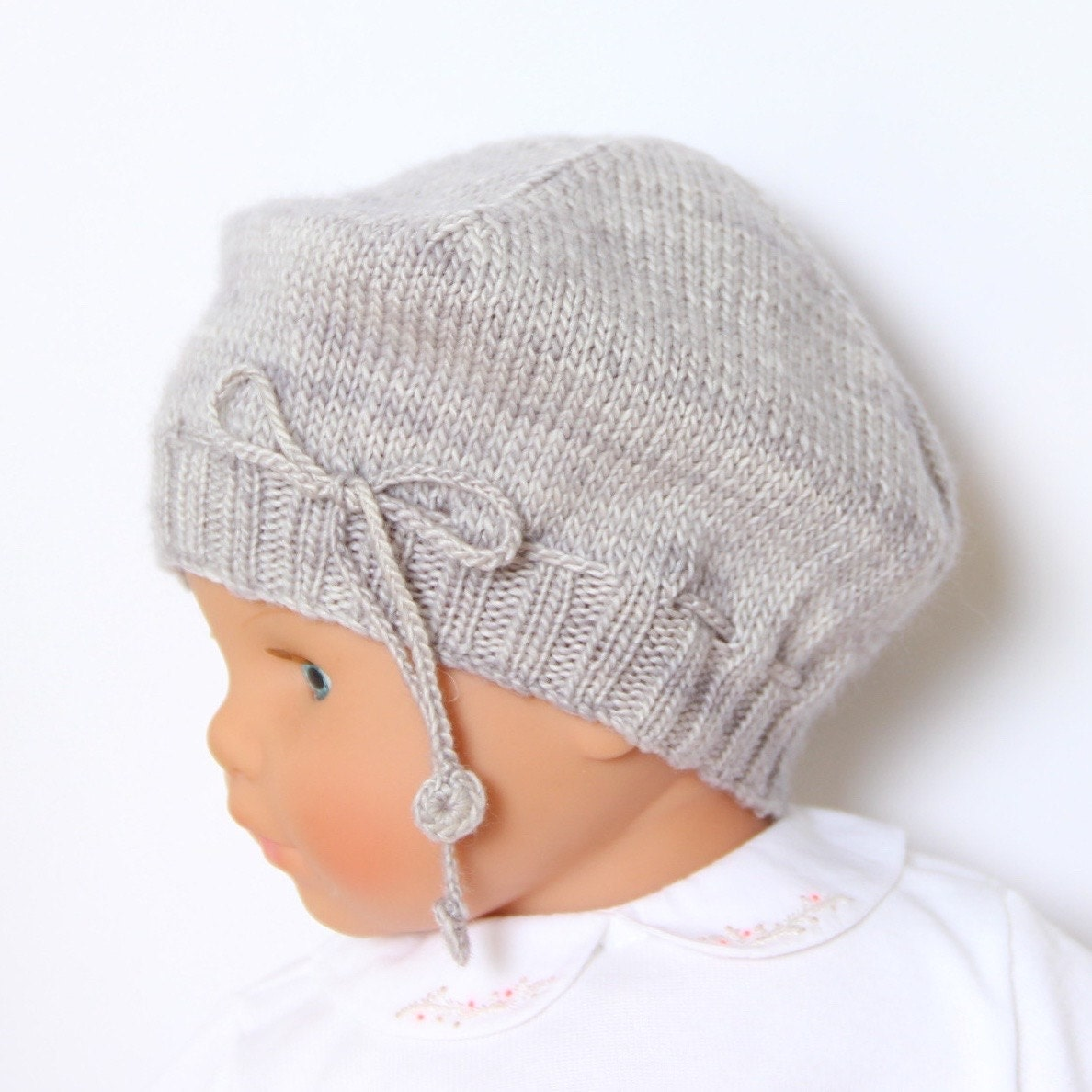Knitting Pattern Hat Size 9 Needles : Baby Hat / Knitting Pattern Instructions in English / PDF ...