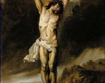Anton Goubau-The Crucifixion. mid 1600s. Religion,Christina, Christ Jesus, Christian art, religious art, antique art, canvas art prints