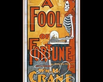"""11 x 14""""  premium Luster photo paper~ A fool of fortune 1896 magic, fortune telling mystery"""