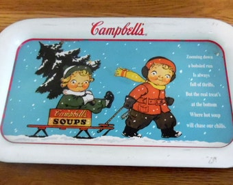Campbell's kids 1993 collector metal tray.  The graphics are from a 1952 card