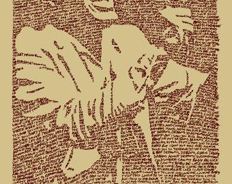 Otis Redding Lyrics 21 x 29- Giclee Print of Original Painting