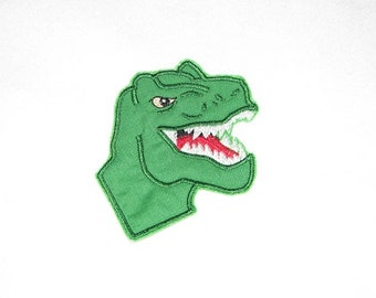 T-Rex Dinosaur Iron on No Sew Embroidered Patch Applique