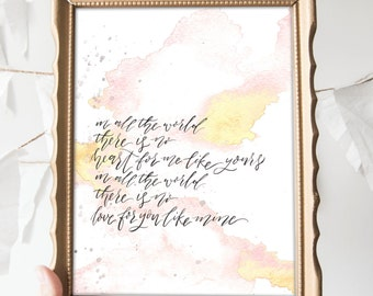 SALE // In All the World Print 8x10