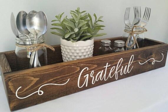 Grateful rustic centerpiece box table farmhouse