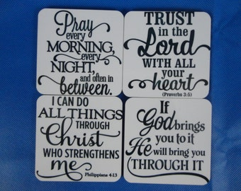 Set of 4 Religious Coasters