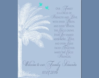 Gift for New Daughter-in-Law, BEACH WEDDING GIFT, Wedding Gift from Groom's Parents, Palm Tree Wedding Gift, Destination Wedding Gift