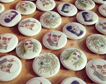 Movie Monster Badges