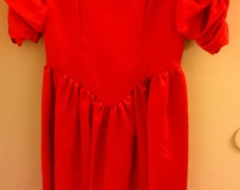 Lipstick red prom dress,holiday ball dress